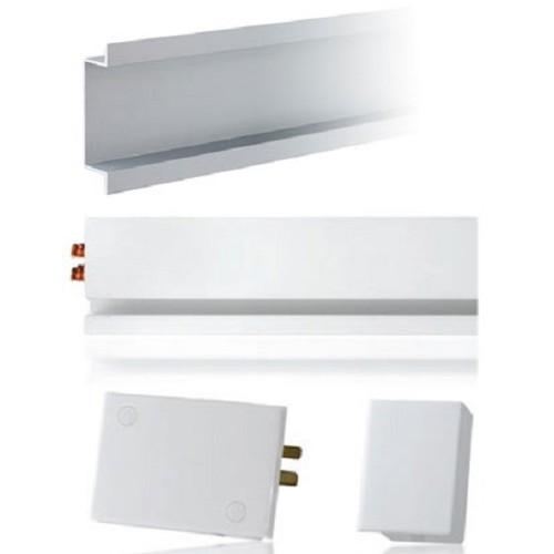 MAINLINE Starter Kit Left Terminal Block with Flush Mount Housing [MLWLF] - White - Power Track